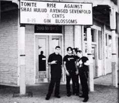 Avenged Sevenfold back in the day (sorry for the bad quality)