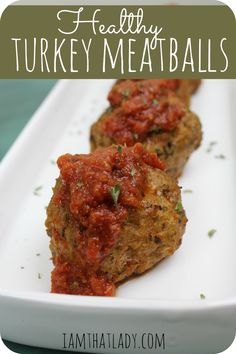 Sooo making these tonight! Spaghetti and turkey meatballs, with a homemade pasta sauce! I've never been a fan of turkey meatballs until I tried these! They are healthy, but so tender and flavorfull. Dairy-free and can be made gluten-free! Healthy Cooking, Healthy Snacks, Healthy Eating, Cooking Recipes, Healthy Recipes, Best Turkey Meatballs, Healthy Meatballs, Turkey Meatballs Gluten Free, Turkey Meatballs Without Breadcrumbs