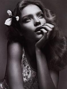 Natalia Vodianova by Mert Alas and Marcus Piggott for Vogue Italia March 2003