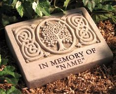 Memorial stone which can be customized with a name or other special sentiment. $99.99 + FREE SHIPPING #MemorialStone
