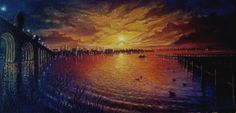 South Bmore Sunset oil on canvas $1400