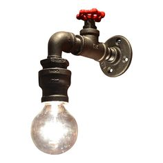 DESCRIPTION: This industrial light is flexible enough to work in a home, retail space, or office. It is designed to look like a water faucet with a drop of water. ~ALL LIGHTS CAN BE CUSTOMIZED. IF YOU WANT SOMETHING CUSTOMIZED TO YOUR NEEDS, PLEASE LET US KNOW AND WE WILL QUOTE IT. ITEM DETAILS: -Dimensions: 11 H x 8 W -Bulbs: Any style bulb including Edison, Standard, LEDS etc. (no candelabras) -Rated 60 Watts Per Socket -Socket: Standard size heavy duty light socket (120V/240V)…