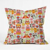 Found it at Wayfair - Valentina Ramos Cute Little Owls Indoor/Outdoor Polyester Throw Pillow
