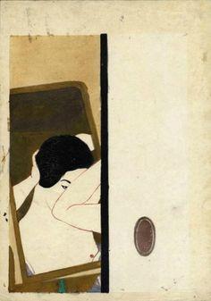 Kōshirō Onchi - Before the mirror (1928
