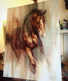 Painting horse art oil on canvas Ideas Horse Canvas Painting, Knife Painting, Horse Artwork, Horse Drawings, Equine Art, Acrylic Art, Animal Paintings, Art Oil, Cool Art
