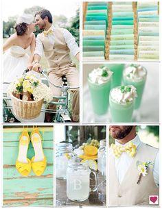 Sweet Yellow & Mint Wedding Ideas, Spring Wedding Ideas
