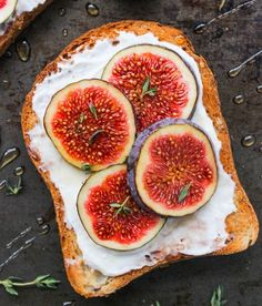 Whipped honey & thyme ricotta with fig toast on gluten free bread. Just pop a slice of bread in the toaster as you normally would and as its ...