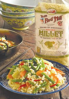 Ever wondered: what is millet? Discover the history of this ancient grain, plus put it to good use with a millet stir-fry recipe. data-pin-do=