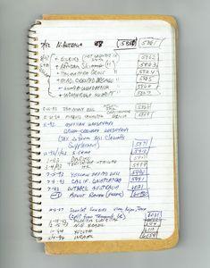 Richard Koeppel's handwritten North American life list; he kept hundreds of notebooks since he began birding at age 10.