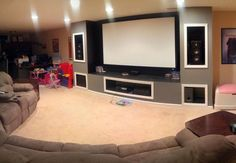 His Wife Gave In And Let Him Build An Epic Home Theater In the Basement