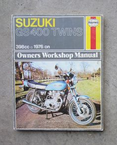 SUZUKI TS125 Workshop Parts List Manual for TS 125 Owners Service     SUZUKI GS400   Motorcycle Owners Workshop Repair Service Haynes Manual GS  400  SUZUKI
