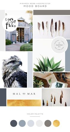Mood Board and Color Palette Gold Navy Grey Miranda Webb Life and Business Coaching Modern Earthy Arrow Logo and Brand Design Earthy Color Palette, Colour Pallete, Color Palettes, Website Color Palette, Color Schemes Design, Brand Archetypes, Website Design Inspiration, Design Ideas, Brand Inspiration