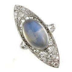 Vintage-1920s-Moonstone-Diamond-Ring