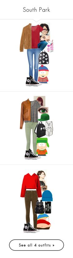 """""""South Park"""" by sleepyfangirl ❤ liked on Polyvore featuring Converse, MANGO, Current Mood, Current/Elliott, H&M, RIPNDIP, Yves Saint Laurent, Mother, Charlotte Tilbury and Golden Goose"""