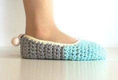 Pantuflas a crochet  patrón pattern gratis free