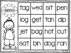 CVC Word Families Bingo