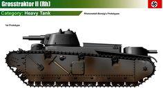 Grosstraktor II (Rheinmetall-Borsig) 1st & 2nd prototypes