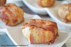 Champignons met kaas en spek uit de airfryer