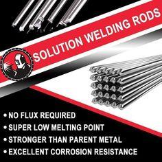 Solution Welding Flux-Cored Rods – Ohh My Dealz Welding Aluminum, Aluminum Boat, Welding Flux, Melting Temperature, Aluminum Fabrication, Metal Fabrication Tools, Irrigation Pipe, Aluminum Molding, Welding