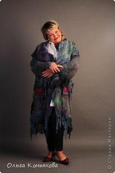 Гардероб День рождения Валяние фильцевание Валяное пальто на лето  на основе марли   Ткань Шерсть фото 1