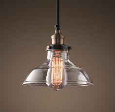 Glass Barn Filament Pendant Aged Steel #lighting