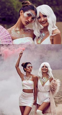 The Best Looks At Coachella This Year Are SO Different Coachella 2017 Street Style – Music Festival Fashion Coachella Festival, Coachella Make-up, Festival T-shirts, Music Festival Outfits, Festival Fashion, Coachella Outfit Ideas, Coachella Looks, Festival Outfit 2018, Boho Festival Makeup