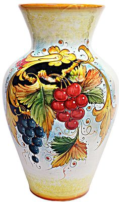 Deruta Italian Ceramic Vase--I'd decorate a whole room after this vase