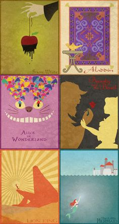 Minimalist Disney posters. I really love that Lion King one!