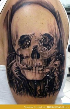 sweet illusion skull tat