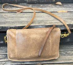 Coach Vintage Tan Brown Leather Shoulder Crossbody Purse Bag USA New York City in Clothing, Shoes & Accessories, Women's Handbags & Bags, Handbags & Purses | eBay