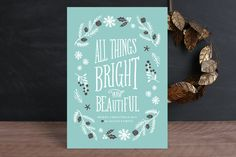 Bright & Beautiful by Olivia Raufman at minted.com