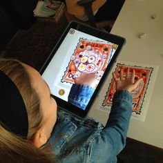 A second grader having a little AR fun for dot day! #Avenuesed #augmentedreality #dotday #ipaded
