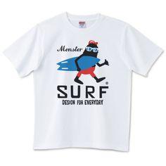サーフ・モンスター | デザインTシャツ通販 T-SHIRTS TRINITY(Tシャツトリニティ)