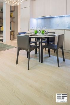 The engineered hardwood floor used in this apartment part of the YONGE + RICH Condominium is the Bianco Perla. The Soho Collection offers a wide range of chic, stained and oil finished European Ash & Oak wood decors. The square edge planks provide clean lines and the real wood top layer offers the quality and warmth of real wood. Available is store! Visit our showroom: 1310 Castlefield Ave, Toronto