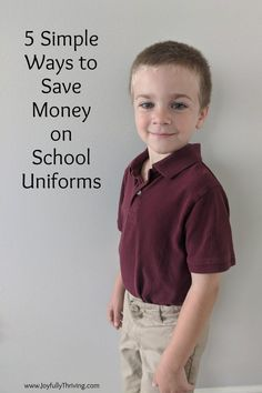 Buying school uniforms an add up, but you can save a lot of money with these 5 ways to save money on uniforms! #backtoschool #uniforms #savingmoney Life On A Budget, Budget Help, Good Parenting, Parenting Hacks, Money Saving Mom, School Uniforms, Mom Advice, Christian Parenting, Long Sleeve Polo