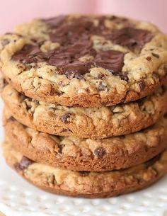 Deep Dish Dark Chocolate Salted Caramel Cookies