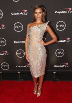 Jessica Alba in vintage haute couture Elie Saab dress, Brian Atwood shoes - At the ESPY Awards in Los Angeles.  (July 2014)