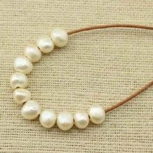 ETS-L0041 2.5mm large hole freshwater pearl, 10-11mm baroque loose pearl bead, loose freshwater pearl, 20 pcs  ETS - L0041