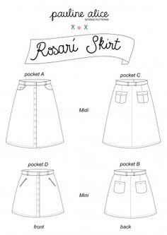 Pauline Alice Ladies Sewing Pattern Rosari Skirt | Sewing | Patterns | Minerva Crafts