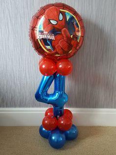 Drake's Birthday, Hulk Birthday Parties, Pokemon Birthday, Superhero Birthday Party, Birthday Ideas, Spiderman Balloon, Spiderman Theme Party, Balloon Decorations Party, Birthday Party Decorations