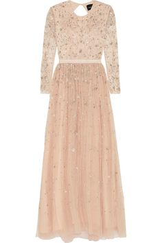 Needle & Thread - Celestial Embellished Tulle Gown - Blush - UK14