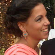 Ana glowing in Dori Csengeri's Ceasarea earrings! #doricsengeri #earrings #jewelry #soutache #spottedwearingdori