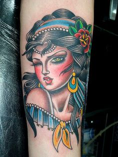 another beautiful gypsy tattoo by Valerie Vargas
