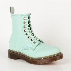 Cheap Dr. Martens Mens Boots 1460 Vintage Punk Light Green $125.00