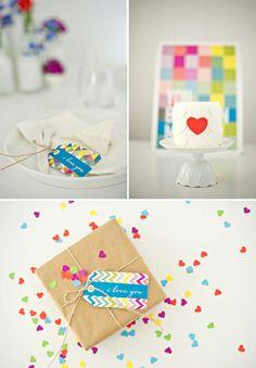 Día luminoso y alegre de San Valentín - Blog - Seven Swans escritorio de la boda