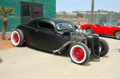Very cool!! Volkswagen bug based five window coupe hot rod