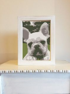 Cuadrito #Lovemyfrench - Comprar en more than words #cuadritos #bulldog #frances #french #deco #home #diseño #morethanwords