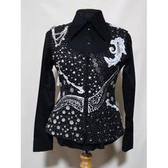 G1-Wire-Horse-LTD-Galaxy-Ladies-Western-Show-Vest-Black-Small-NEW-ONE-OF-A-KIND