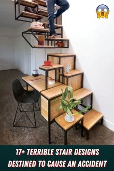 Stairs have been part of architecture forever and while styles and trends have come and gone, Space Saving Furniture, Home Decor Furniture, Diy Home Decor, Furniture Design, Furniture Ideas, Diy Home Interior, Interior Stairs, Escalier Design, Pallet Ideas Easy