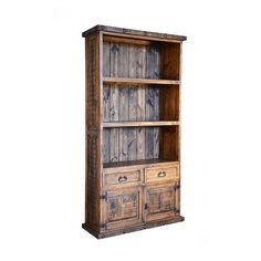 RUSTIC BOOKCASE 429 Rustic Bookcase Old West Wood Home Decor Bookshelves